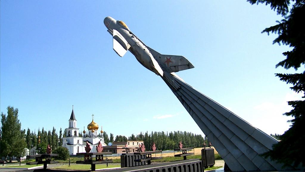 Plane and church